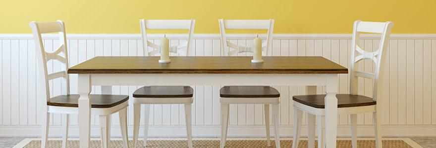 chaises en bois marier à votre salle à manger