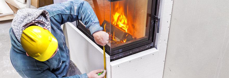 Installation de cheminées et de poêles à bois