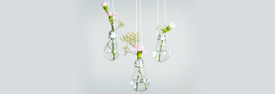 Pot de fleurs DIY : créer vos propres pots de fleurs suspendus avec de la récup
